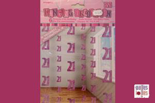 21st Pink Hanging Decoration