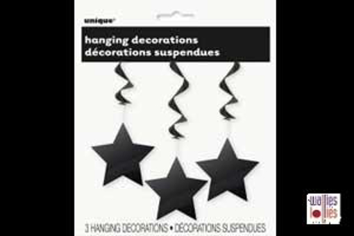 Black Hanging Star Decorations
