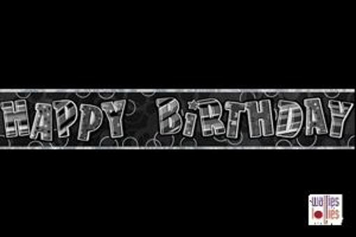 Black Happy Birthday Foil Banner