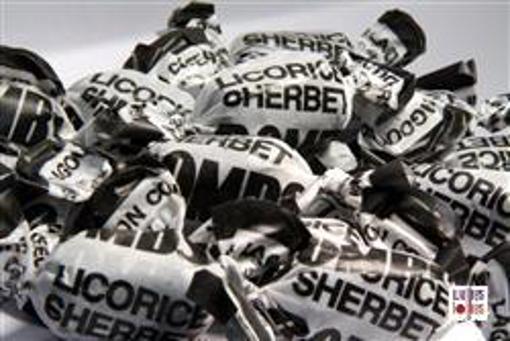 Black Licorice Sherbert Bombs in 7kg carton