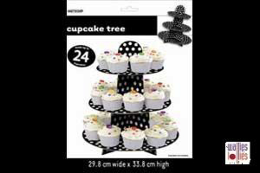 Black Spot Cupcake Stand