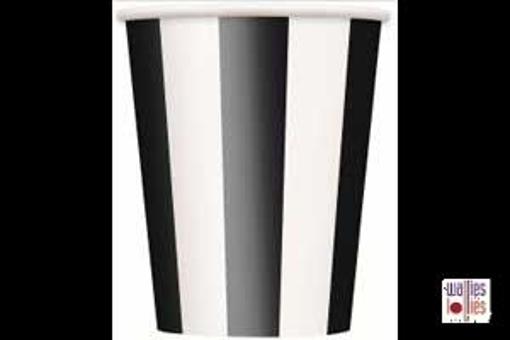 Black Stripe Cups