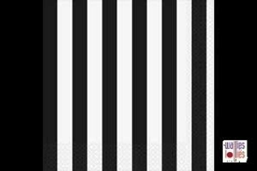 Black Stripe Napkins
