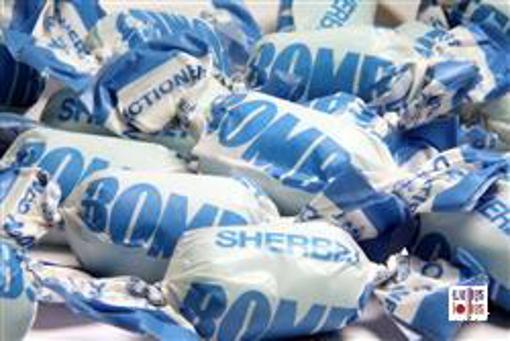 Blue Fruity Sherbert Bombs in 1kg bag