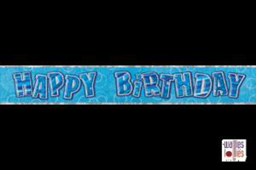 Blue Happy Birthday Foil Banner