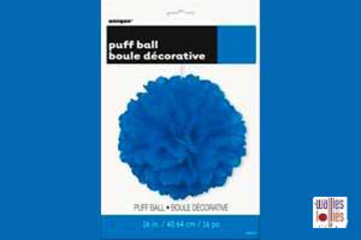 Blue Large Puff Ball