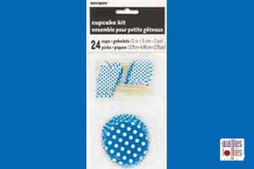 Blue Spot Cupcake Kit
