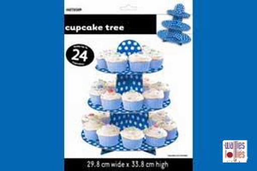 Blue Spot Cupcake Stand
