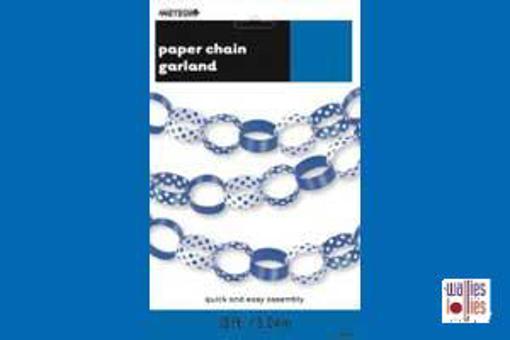Blue Spot Paper Chains