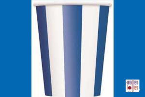 Blue Stripe Cups