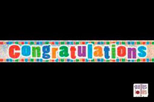 Congratulations Foil Banner