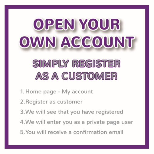 Create you own account