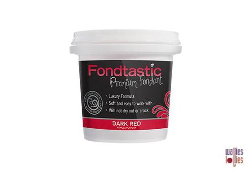 Fondtastic Fondant 8oz - Dark Red