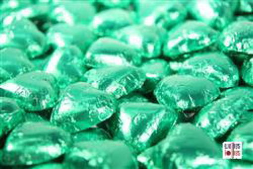 Green Foiled Hearts in 500g  Bag