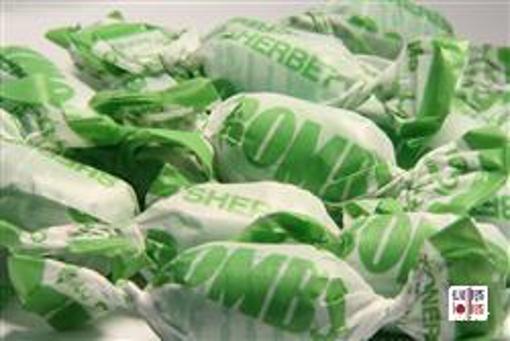 Green Fruity Sherbert Bombs in 7kg carton