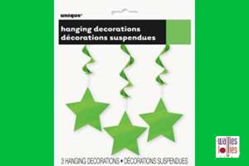 Green Hanging Star Decorations
