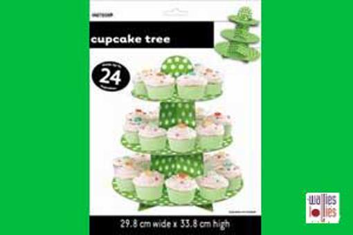 Green Spot Cupcake Stand