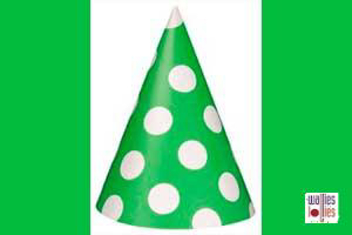 Green Spot Party Hats