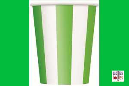 Green Stripe Cups