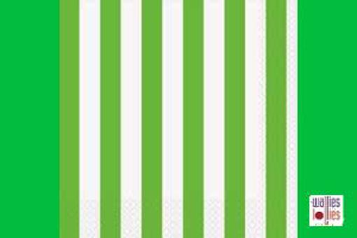 Green Stripe Napkins