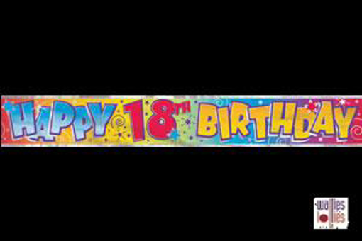 Happy 18th Birthday Foil Banner