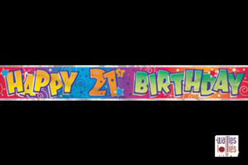 Happy 21st Birthday Foil Banner