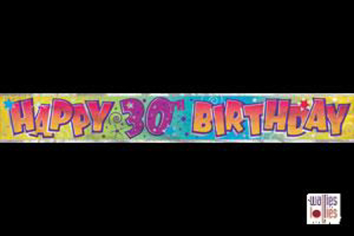 Happy 30th Birthday Foil Banner