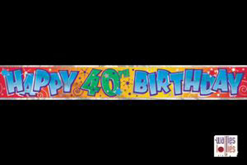 Happy 40th Birthday Foil Banner