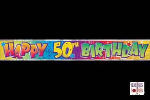 Happy 50th Birthday Foil Banner