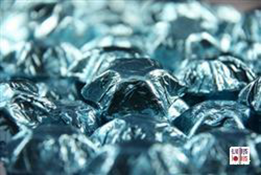 Ice Blue Foiled Stars in 500g Bag