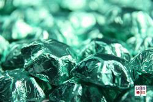 Ice Green Foiled Stars in 500g Bag