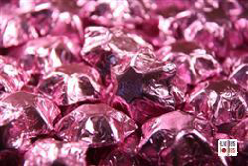 Ice Pink Foiled Stars in 500g Bag