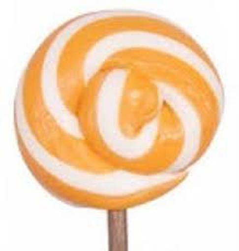 Large Orange & White Lollipops