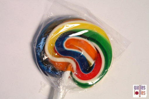 Large Rainbow Swirl  Lollipops
