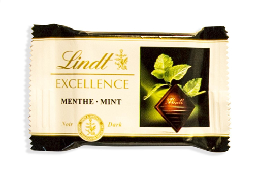 Lindt Excellence Mint Chocolates in 250g bag