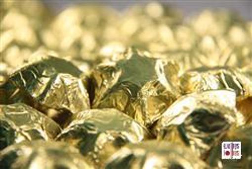 Matt Gold Foiled Stars in 500g Bag