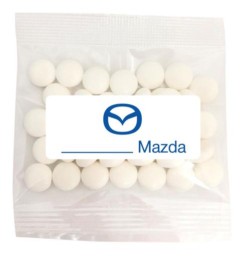 Mazda - 30g Mini Mints  $0.80 per bag