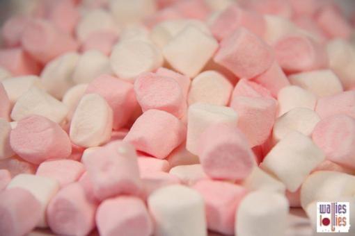 Mini Pink & White Marshmallows in 200g bag