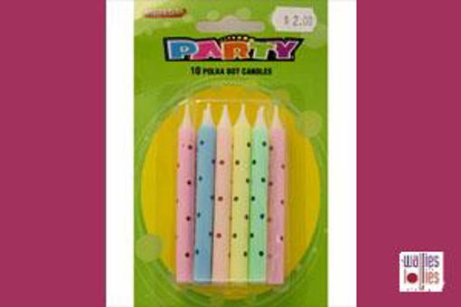 Pastel polka dot Candles