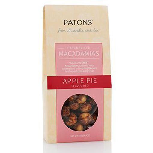 PATONS CARAMELISED MACADAMIAS APPLE PIE GIFT BOX 140g