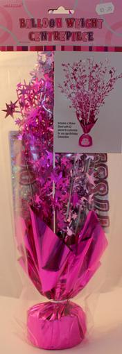 Pink Balloon Weight Centrepiece