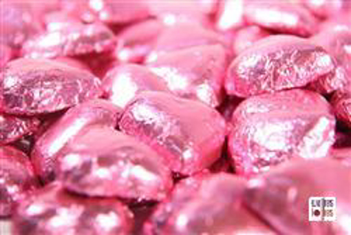 Pink Foiled Hearts in 500g Bag