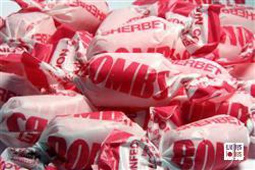 Pink Fruity Sherbert Bombs in 7kg carton