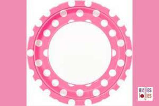 Pink Spot Large Plates