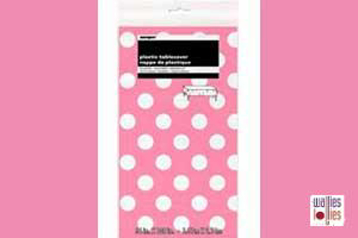 Pink Spot Table Cloth