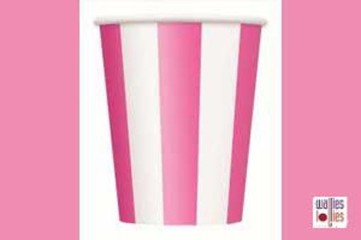 Pink Stripe Cups