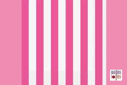 Pink Stripe Napkins