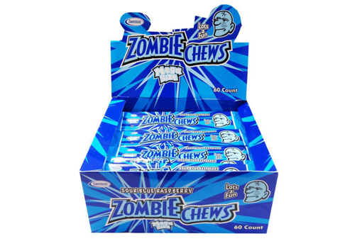 PRE ORDER -ZOMBIE CHEW SOUR RASPBERRY FLAVOUR 60 PACK