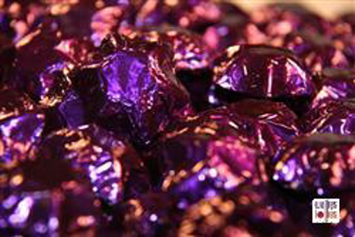 Purple Foiled Stars in 500g Bag