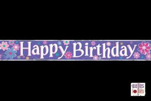 Purple Happy Birthday Foil Banner